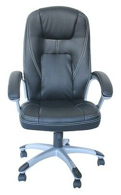 Executive Leather Office Home Study Computer Desk Chair Tilt Swivel ht Adjust.