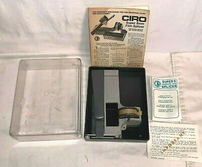 Vintage CIRO Super 8 Adhesive Tape SPLICER Movie Editing equipment accessories
