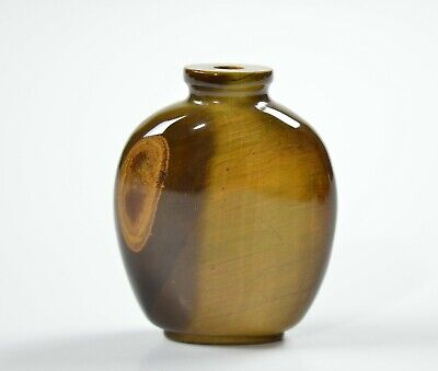 A Chinese Tiger-Eye Snuff Bottle