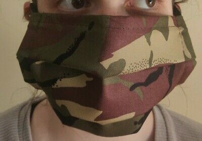 DOUBLE LAYERED Cotton Resuable Face Mask CAMOUFLAGE/ Virus