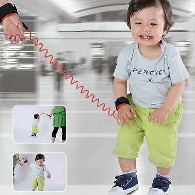 Toddler Baby Kids Safety Harness Leash Anti Lost Wrist Link Traction Rope DE