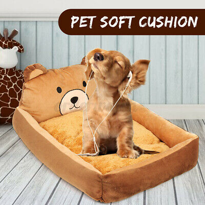 UK Pet Dog Cat Cushion Bed Sofa Mat Kennel Washable Basket Soft Pad Couch House