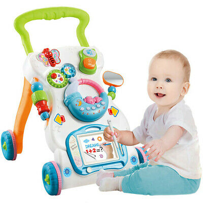 Multi-Function Baby Sit-to-Stand Walker Kid Activity Center Toddler Walking Home