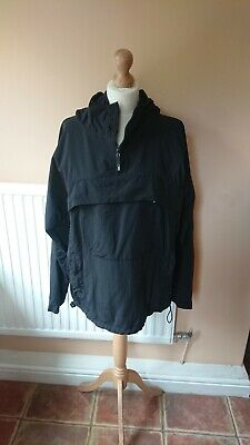 DR Martens lightweight lined black rain jacket with pockets and hood M