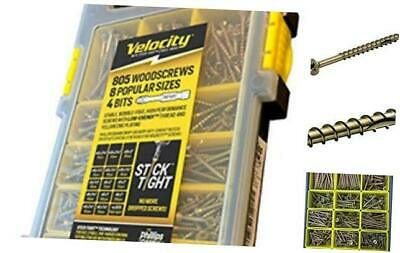 Site-Case Interior Wood Screw Kit Contains 805 Screws in 8 Popular Sizes by