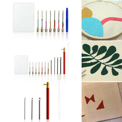 Embroidery Punch Needle + Storage Case Portable Practical Embroidery Sewing