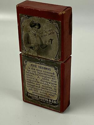 1906 Parke Davis Hypodermic Tablet Vials Medicine Box/ Tube Pharmacy