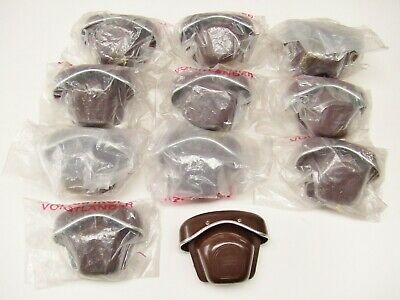 11 X Zeiss Ikon Brown Leather Case Fronts Unused