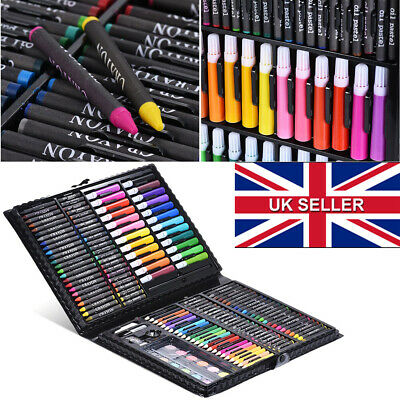 NEW 168pc Art Set with Crayons Pastels Markers Pencils Paint Felt Tips with Case
