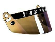 "Racequip Helmet  Pro 15  Visor - ""Blue Iridium ""-  - Spedeworth Oval Racing"