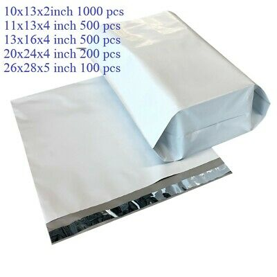 10x13x2 Gusseted Poly Mailer Self Seal Expansion Shipping 2.4MIL 500 Bags