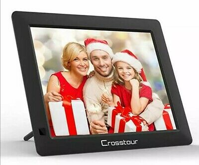 Crosstour Digital Photo Frame, 8 Inch Wide Screen Electronic PictureMusicVideo F