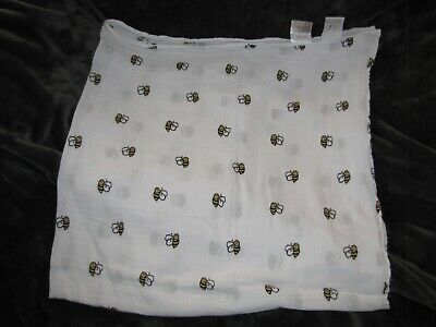 Aden + Anais Baby Infant Smiling Bee Swaddle Receiving Blanket Muslin Cotton