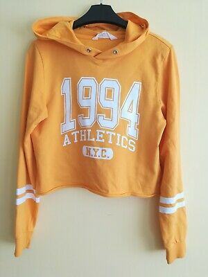 H&M Girls  Cropped Hoodie Age 12-14 Years Used twice VGC.