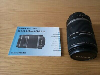 Canon EF-S 55-250mm f/4 - 5.6 IS Lens, Excellent Condition