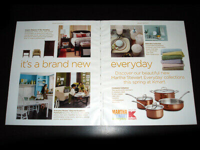 KMART Martha Stewart Everyday 2-Pg Magazine Print Ad 2005 home collections
