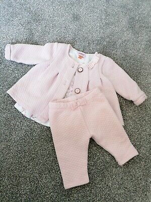 Pink Ted Baker Baby Girls Jacket And Trousers 3-6