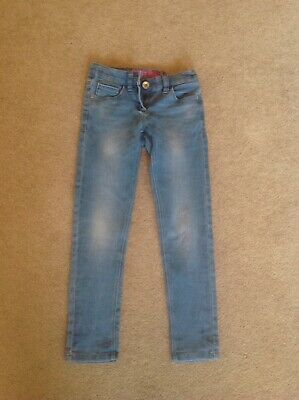 Girls NEXT Blue Jeans Age 8 Years Skinny Adjustable Waist