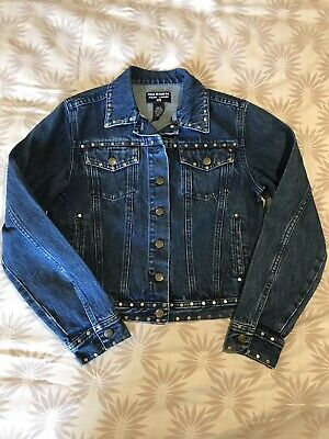 POLO RALPH LAUREN GIRL'S DENIM JACKET WITH STUD DETAIL, Size L Age 12 13 14