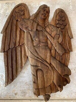 Hand Carved Angel Gabriel Plaque