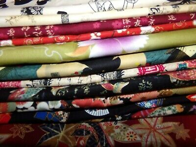 ASIAN Chinese Japanese ORIENTAL flower Cotton Fabric U-Pick HALF YARD PIECES