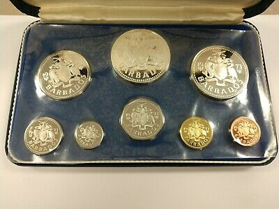 Original 1973 Barbados Proof Set In The OGP With a COA by The Franklin Mint