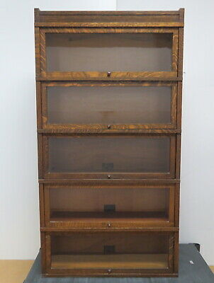 Antique Globe Wernicke Sectional 5 Stack Lawyers Bookcase D-10 1/4 LOCAL PICKUP