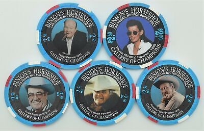 Horseshoe Club Casino Downtown Las Vegas Set of 5 $2.50 Gallery of Champions