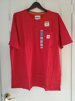 Carhartt Mens Short Sleeve T-Shirt FastDry Force Relaxed Fit Red Size XL NWT!