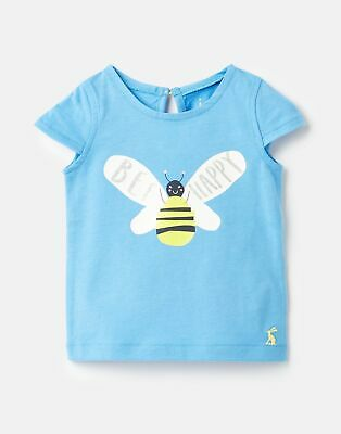 Joules Baby Girls Pixie Screenprint Top  - BLUE BEE