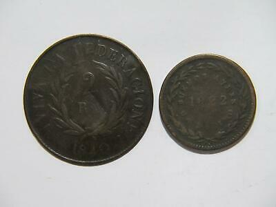 Argentina Buenos Aires 1822 Decimo 1840 2 Reales Low Grade World Coin Lot 🌈⭐🌈