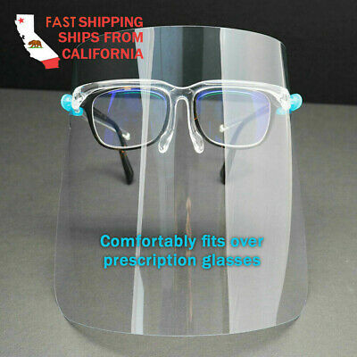 set of 5 Face Shield / Full Protection Cover/ Clear Face Protector/ *US SELLER*