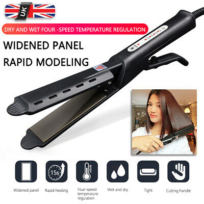 UK Professional Salon Ceramic Tourmaline Steam Ionic Flat Iron Hair Straightener