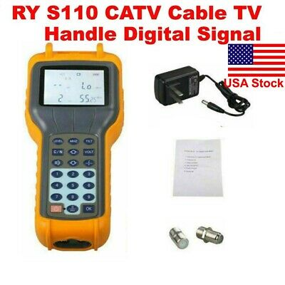 RY S110 CATV Cable TV Frequency/channel Handle Signal Level Meter DB Best Tester