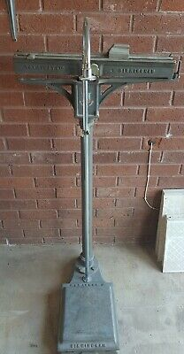 vintage cast iron weighing scales hunt & co agricultural / industrial scales