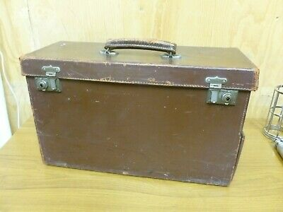 Vintage Leather Doctor / Midwife Case Bag , With Midwifes Implements Etc