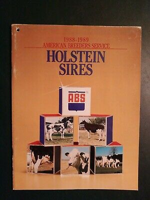 "1988-89 Abs Holstein Dairy Cattle Sire Directory - ""Valiant"" - ""Centra-Red"""