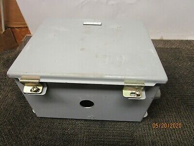 """Hoffman A-10086Ch 10"""" X 8"""" X 6"""" Steel Wall Mount Electrical Enclosure  #3"""