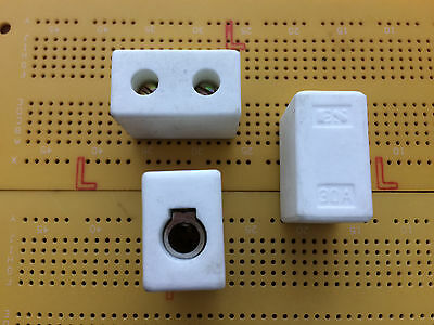 1 Way 30A 450V Ceramic Terminal Block Connector Steatite High Temperature