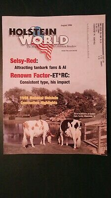 "Holstein World 1998 Red & White Issue + ""Selsy-Red"" + ""Factor Rc"" + Golden Oaks"