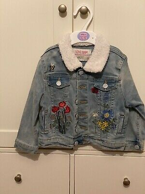 Matalan Demin Jacket Girls age 4 embroidered
