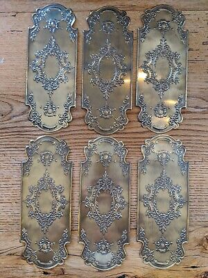 Vintage French Brass Door Push Plate - 6  Available - $25 each.