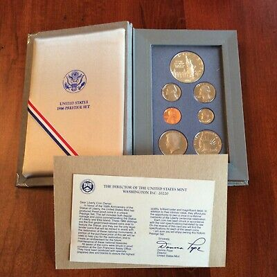 1986-S Prestige US Proof set with Liberty Silver Dollar 7 coins