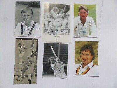 6 Autographed Pictures Of Various Cricketers.