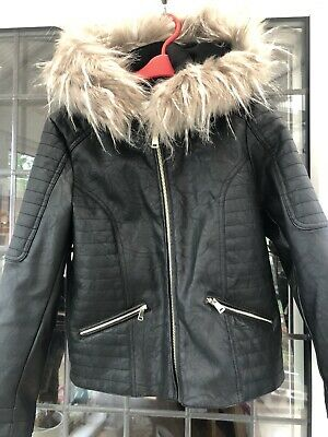 River Island Girls Faux Leather Jacket - Age 10