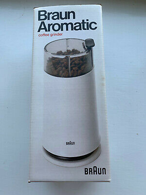 Braun Aromatic Coffee Grinder KSM2 White new in box