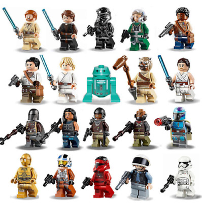 New Star Wars Minifigures Darth Vader Jedi Baby Yoda Mandalorian Storm Troopers