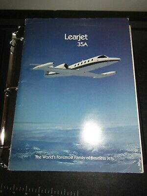 Learjet 35 36 Series Manual - FlightSafety Binder 35A Folder