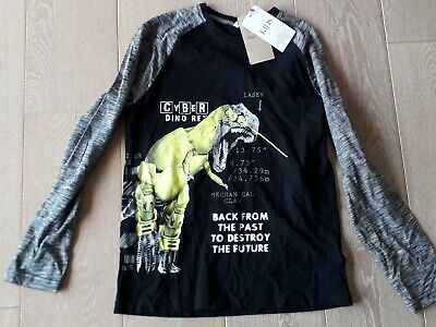 BNWT BOYS MARKS & SPENCER LONG SLEEVED  Dinosaurs T SHIRT  AGE 11-12 YEARS