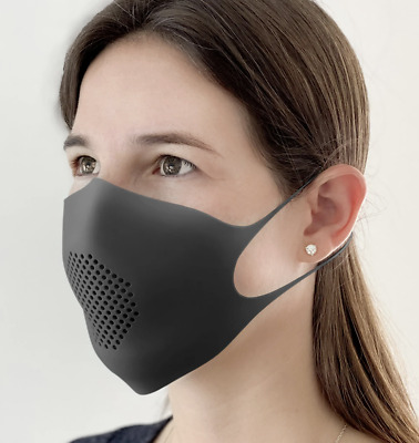 Reusable Washable Face Mask Silicone w/ 5 filters IN STOCK BLACK BLUE cover GIR